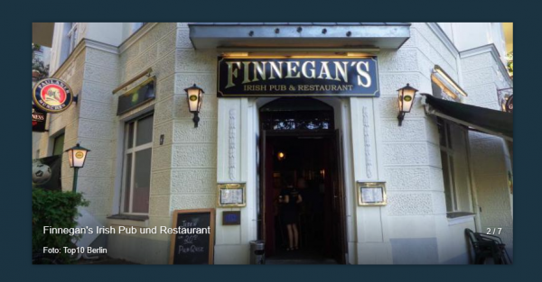 Finnegan's irish Pub Berlin